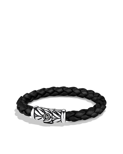 David Yurman | Chevron Rubber Weave Bracelet In Black, 8mm for Men | Lyst