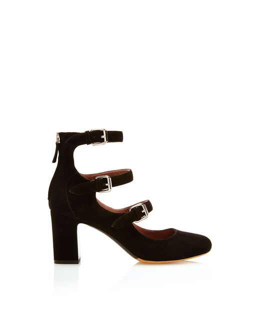 Tabitha Simmons | Black Ginger Suede Pumps | Lyst