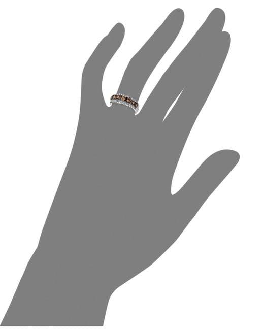 Le Vian   Brown Diamond Chocolate Diamond And White Diamond Band (1-1/6 Ct. T.w.) In 14k White Gold   Lyst
