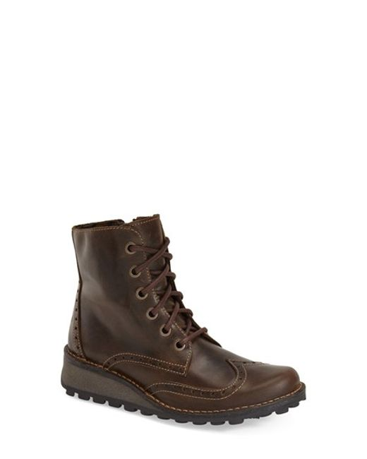 Fly London | Brown 'marl' Wedge Boot | Lyst
