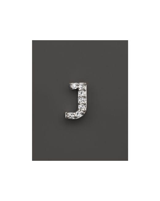 KC Designs   Metallic Diamond Initial Stud Earring In 14k White Gold   Lyst
