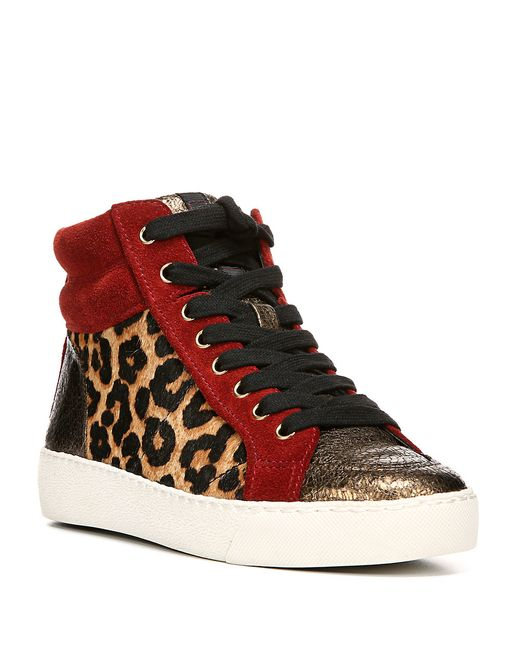 Sam Edelman Britt Leopard Calf Hair Leather Combo