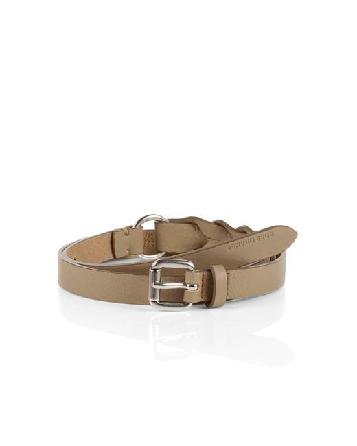 BOSS Orange   Natural 'omnia' Leather Belt By   Lyst