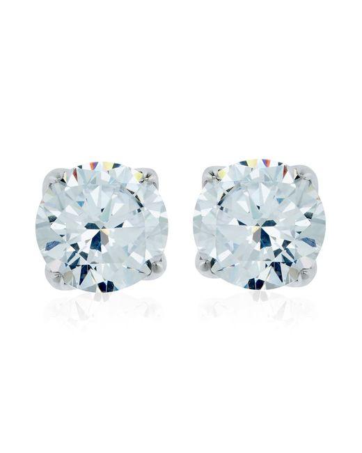 Carat* | Metallic 2ct Round Cut Stud Earrings | Lyst