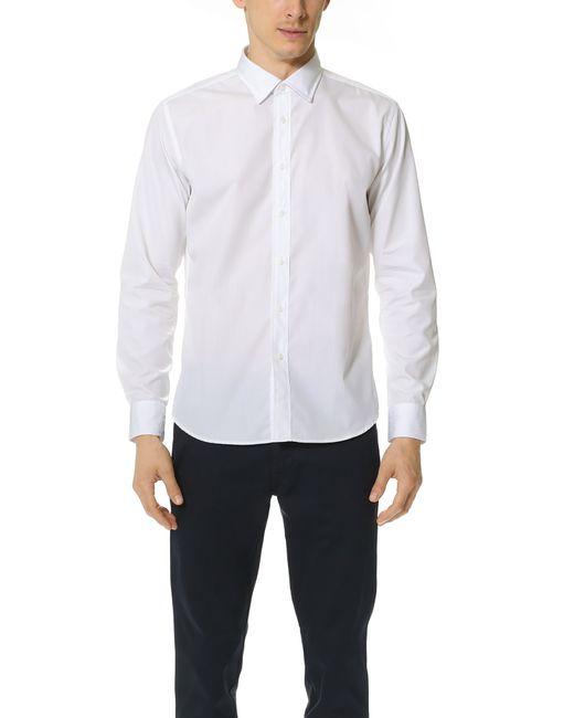 Brooklyn Tailors Classic Poplin Dress Shirt In White For