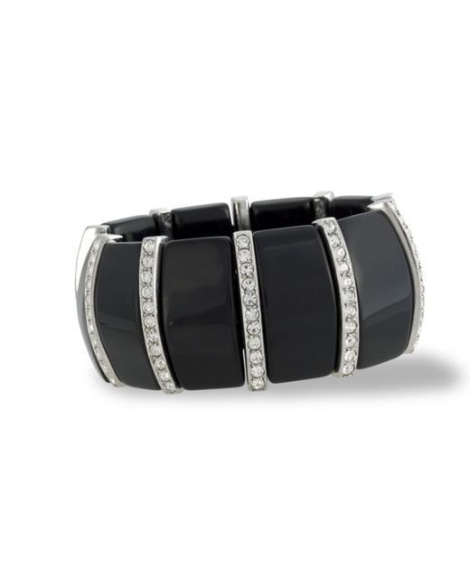 Kenneth Jay Lane | Black And Crystal Art Deco Bracelet | Lyst