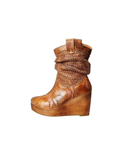 bed stu bruges wedge boot in brown save 37 lyst