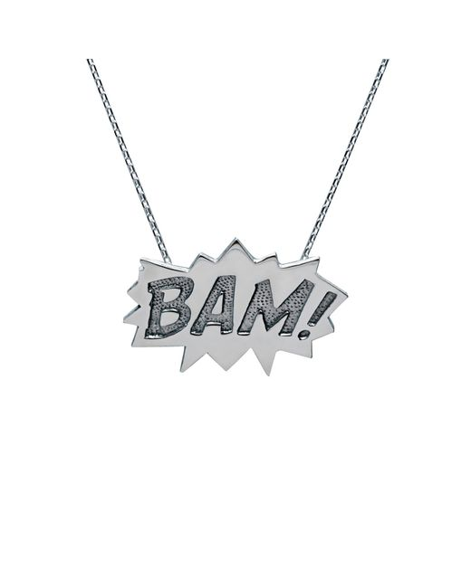 Edge Only | Metallic Bam Pendant Large Long In Silver | Lyst