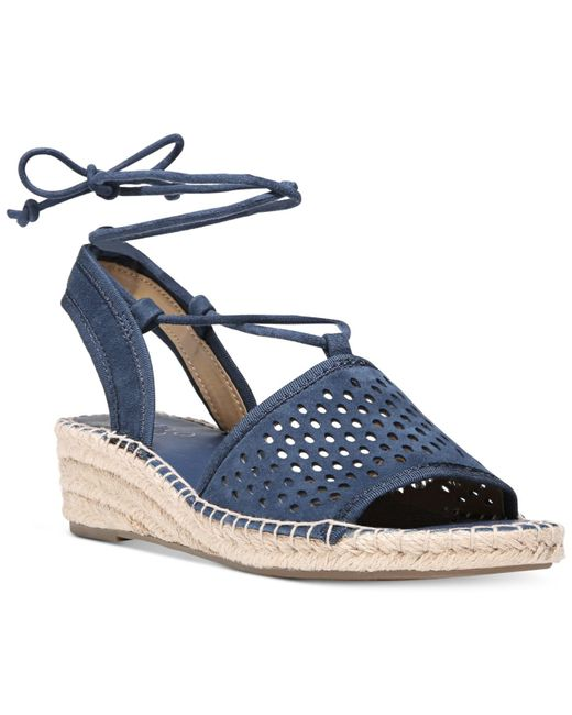 Franco Sarto Liona 2 Perforated Lace Up Wedge Espadrille