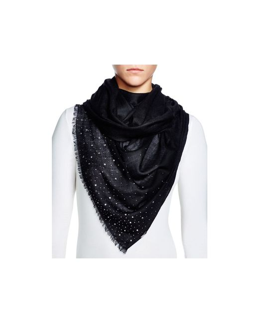 Fraas | Black Sparkle Wrap Scarf | Lyst