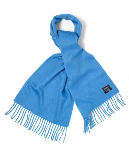 s light blue oyster ripple finish scarf in