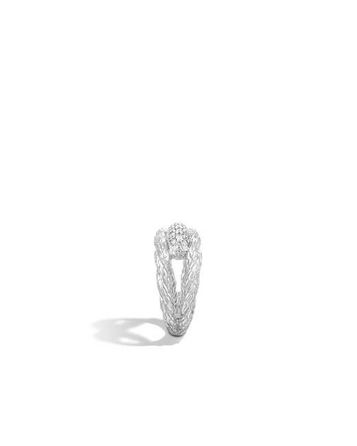 John Hardy   Metallic Classic Chain Ring With Diamonds   Lyst