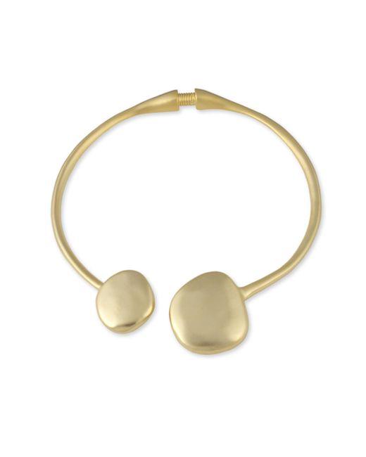 Kenneth Jay Lane | Metallic Satin Gold Collar Necklace | Lyst