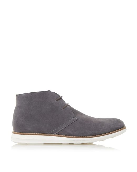 dune cove suede hybrid wedge boots in gray for grey