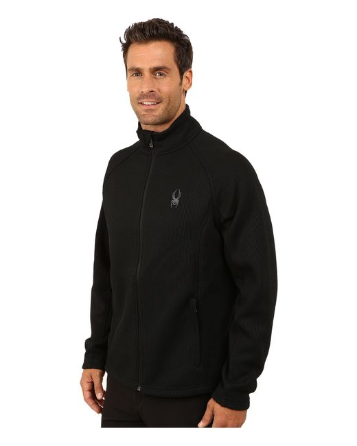 Spyder | Black Constant Full Zip Mid Weight Core Sweater for Men | Lyst