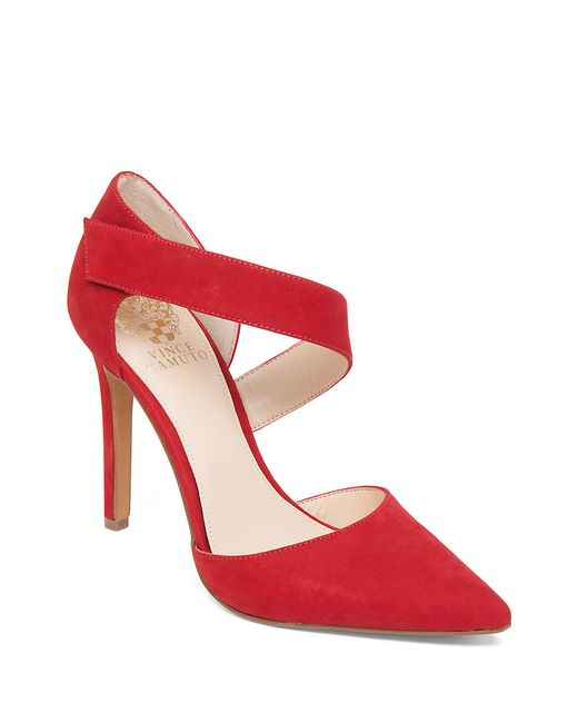 Vince Camuto | Red Carlotte Suede Heels | Lyst
