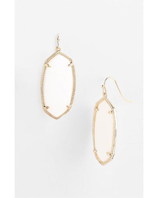 Kendra Scott | White 'elle' Drop Earrings | Lyst
