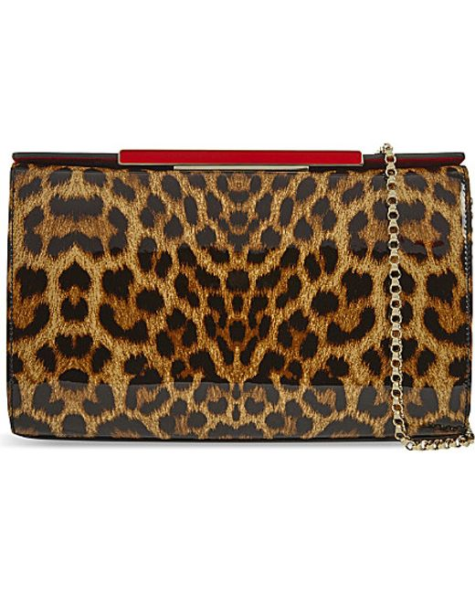 Christian Louboutin | Brown Vanité Large Clutch | Lyst