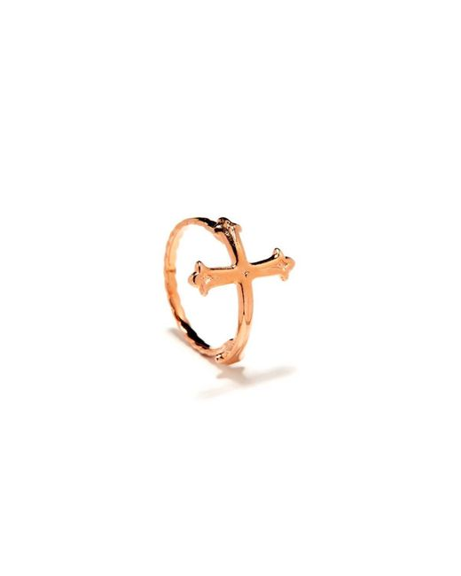Bing Bang | Pink Victorian Cross Ring | Lyst