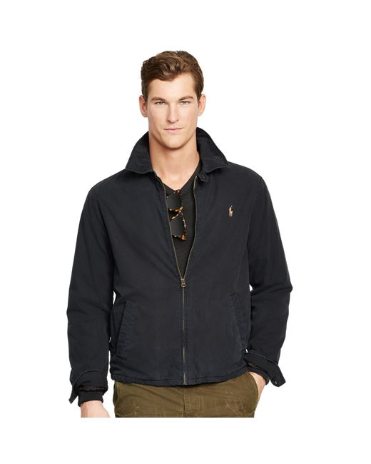 Polo Ralph Lauren | Black Cotton Windbreaker for Men | Lyst