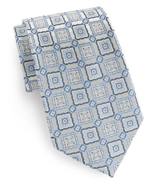 Burma Bibas   Blue Box Medallion Silk Tie for Men   Lyst