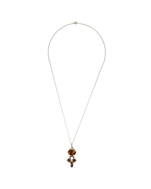 Cabinet | Metallic Gold Plated Swarovski Crystal Crested Pendant | Lyst