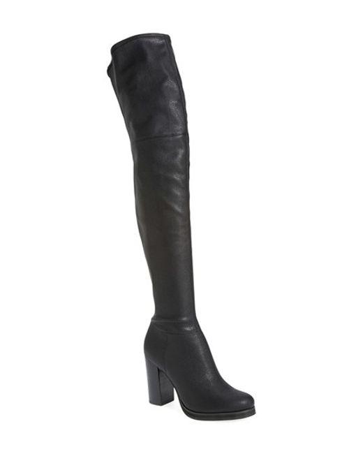 Calvin Klein | Black 'bisma' Over The Knee Boot | Lyst