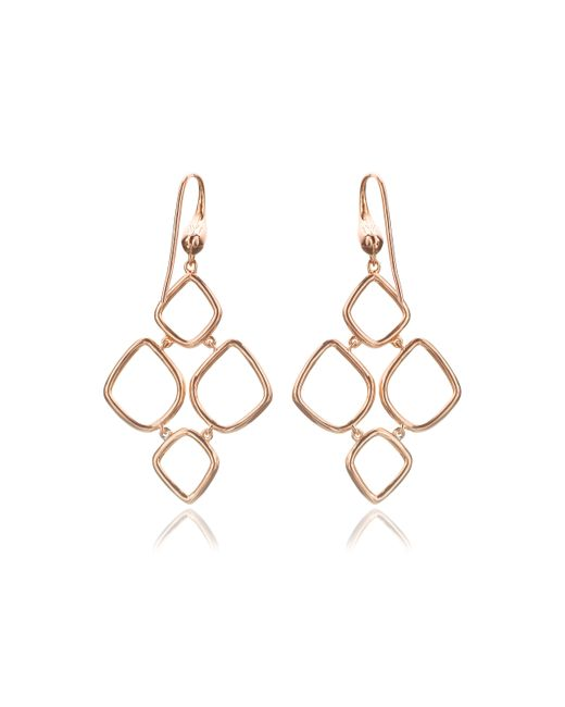 Monica Vinader | Pink Riva Diamond Cluster Drop Earrings | Lyst
