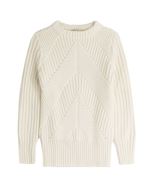 Knitting Patterns Cashmere Wool : Burberry Wool-cashmere Knit in White Lyst