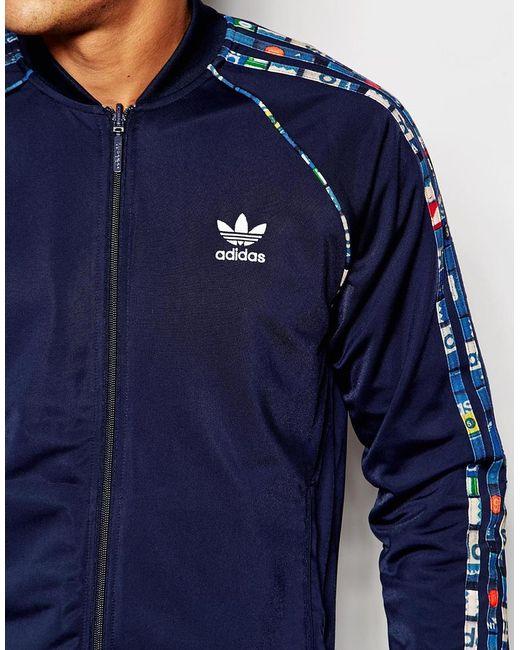 Adidas Originals Reversible Track Jacket With Shoebox