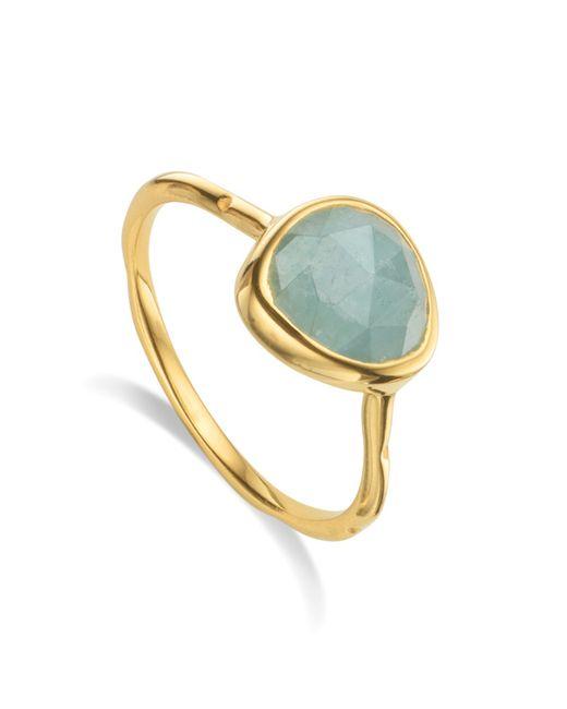 Monica Vinader | Blue Siren Stacking Ring | Lyst