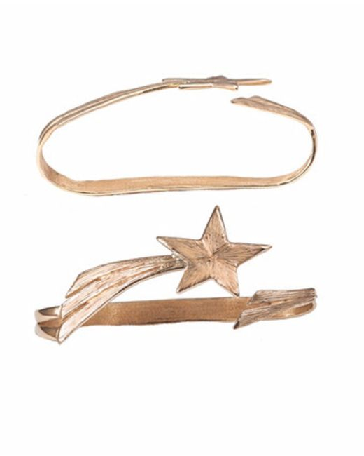 Bernard Delettrez | Metallic Shooting Star Bronze Hand Bracelet | Lyst