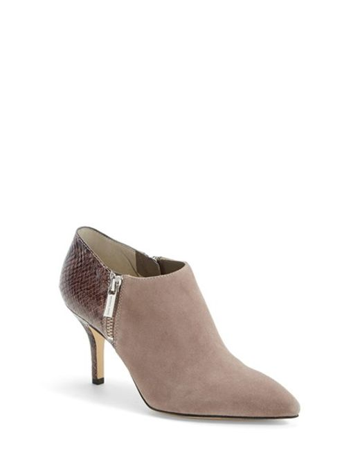 MICHAEL Michael Kors | Natural Clara Suede Pointed-Toe Boots | Lyst