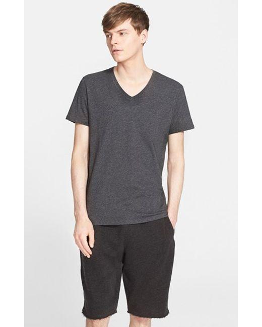 ATM | Gray Cotton Jersey V-neck T-shirt for Men | Lyst