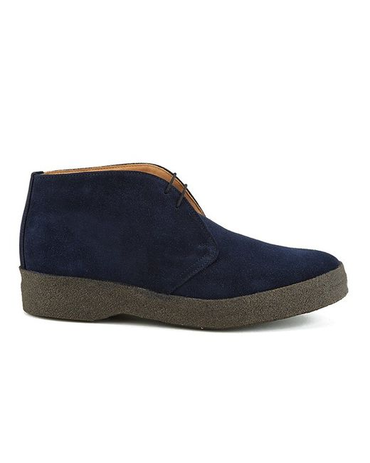 sanders s hi top suede chukka boots in blue for