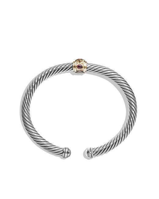 David Yurman | Metallic Renaissance Bracelet With Citrine, Rhodalite Garnet And 14k Gold, 5mm | Lyst