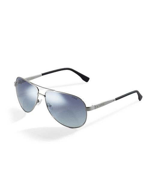 Guess   Metallic Classic Aviator Sunglasses   Lyst