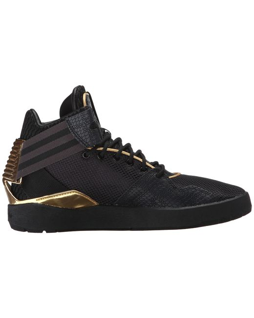 Adidas Black And Gold Basketball Shoes Strap