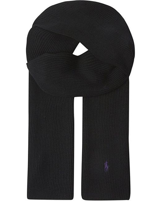 Polo Ralph Lauren | Black Ribbed Merino Wool Scarf for Men | Lyst