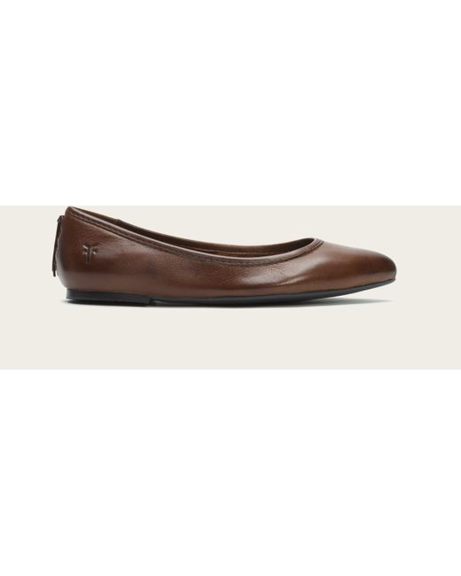 Frye | Brown Regina Pointed-toe Ballet Flats | Lyst