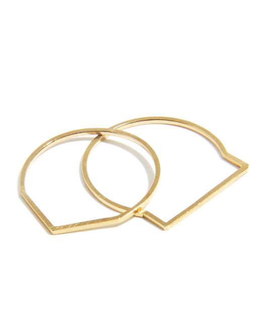 Melissa Joy Manning | Metallic Stacking Geometric Rings By Mute Object | Lyst