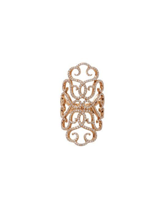Inbar | Metallic Diamond Pave Lace Ring | Lyst