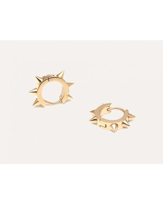 Maria Francesca Pepe | Metallic Spiked Gold Hoops | Lyst