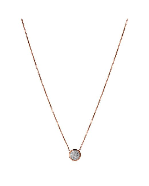 Links of London | Metallic Diamond Essentials 18ct Gold Vermeil Diamond Pave Round Pendant | Lyst