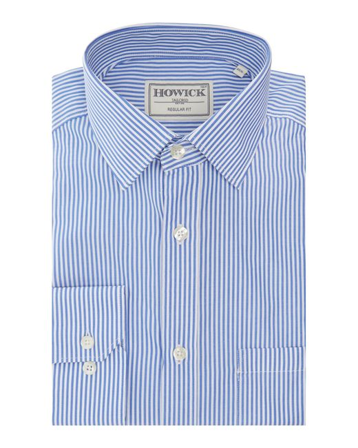 Howick | Blue Fairbanks Bengal Stripe Shirt for Men | Lyst