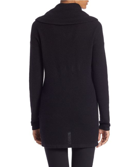 Lord & Taylor | Black Petite Drop-shoulder Cowl-neck Sweater | Lyst