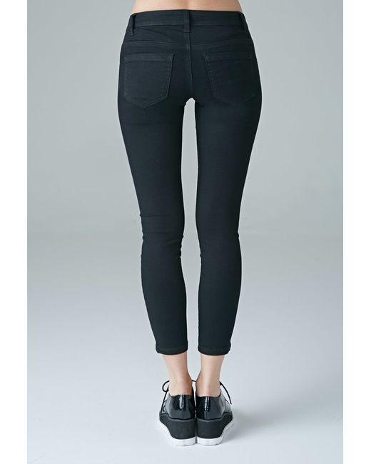 Forever 21 | Black Low-rise Skinny Ankle Jeans | Lyst