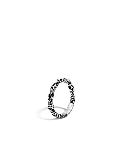 John Hardy | Metallic Twisted Chain Band Ring | Lyst