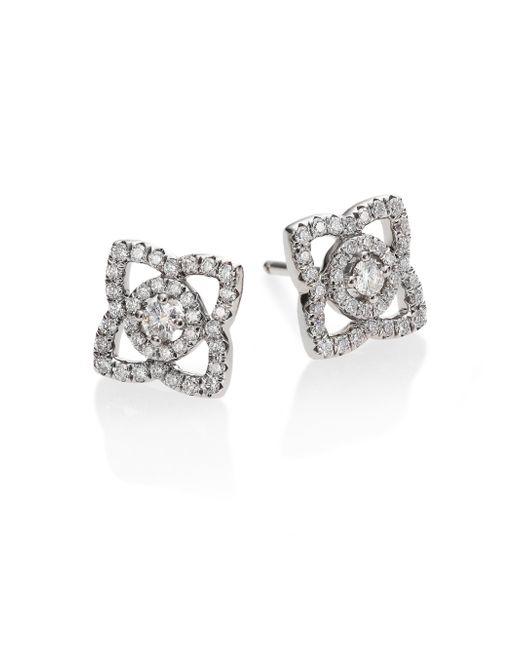 De Beers | Metallic Enchanted Lotus Diamond & 18k White Gold Stud Earrings | Lyst