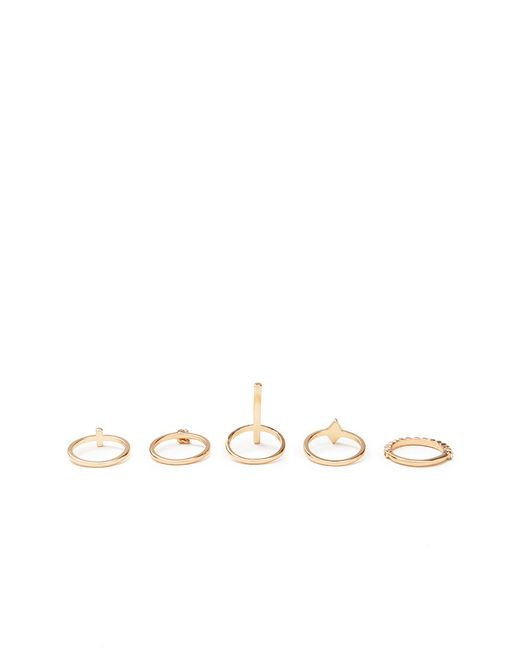 Forever 21 | Metallic Rhinestone Ring Set | Lyst